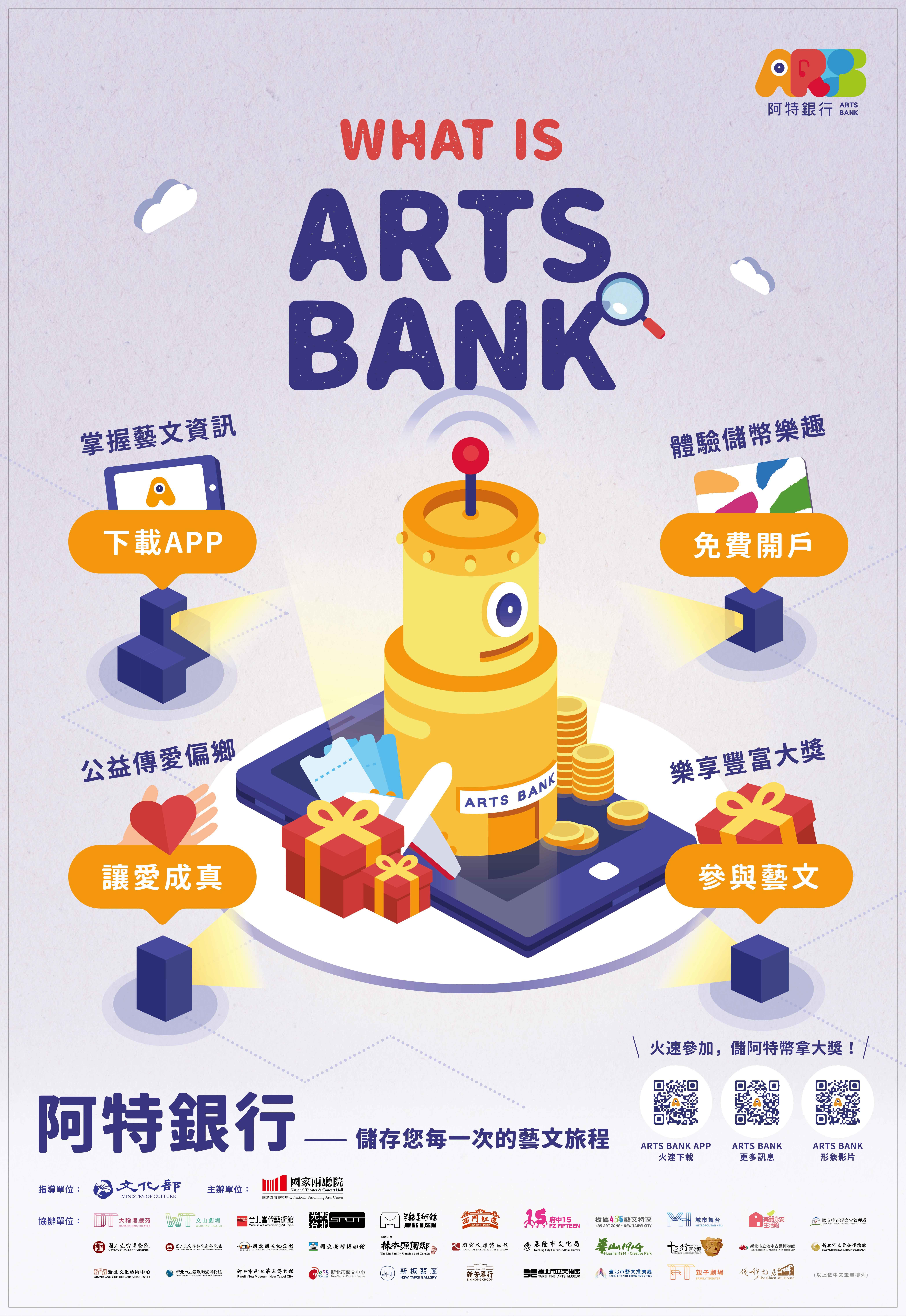 「阿特銀行 Arts Bank」儲存你的藝文旅程 豐富你的藝趣人生